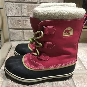 Sorel Pink Snow Boots Womens Size 7